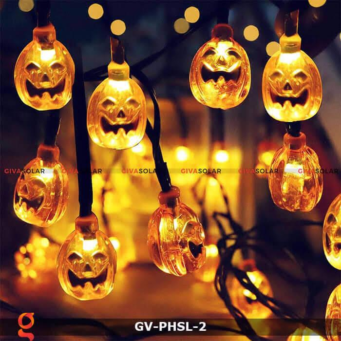 Dây đèn led bí ngô trang trí Halloween GV-PHSL-2 12