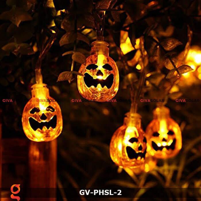 Dây đèn led bí ngô trang trí Halloween GV-PHSL-2 4