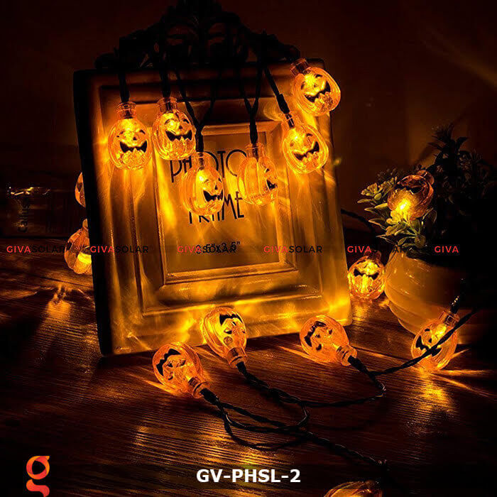 Dây đèn led bí ngô trang trí Halloween GV-PHSL-2 7