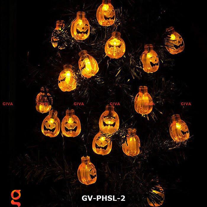 Dây đèn led bí ngô trang trí Halloween GV-PHSL-2 8