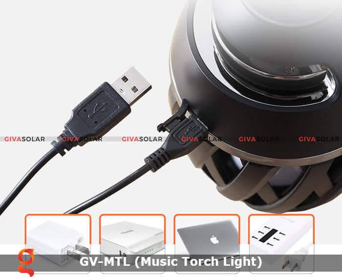 Đèn hiệu ứng ngọn lửa GV-MTL có loabluetooth 14