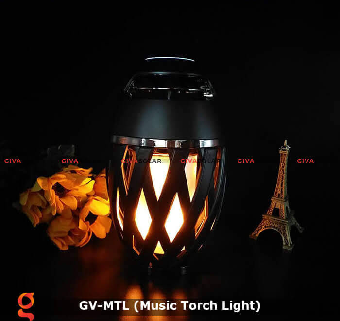 Đèn hiệu ứng ngọn lửa GV-MTL có loabluetooth 4