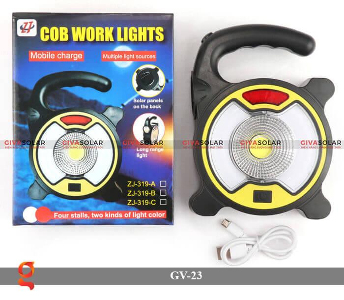 Đèn Led cầm tay năng lượng mặt trời GV-23 1