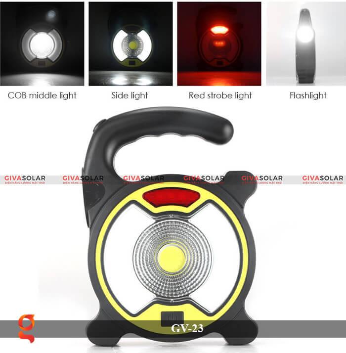 Đèn Led cầm tay năng lượng mặt trời GV-23 2