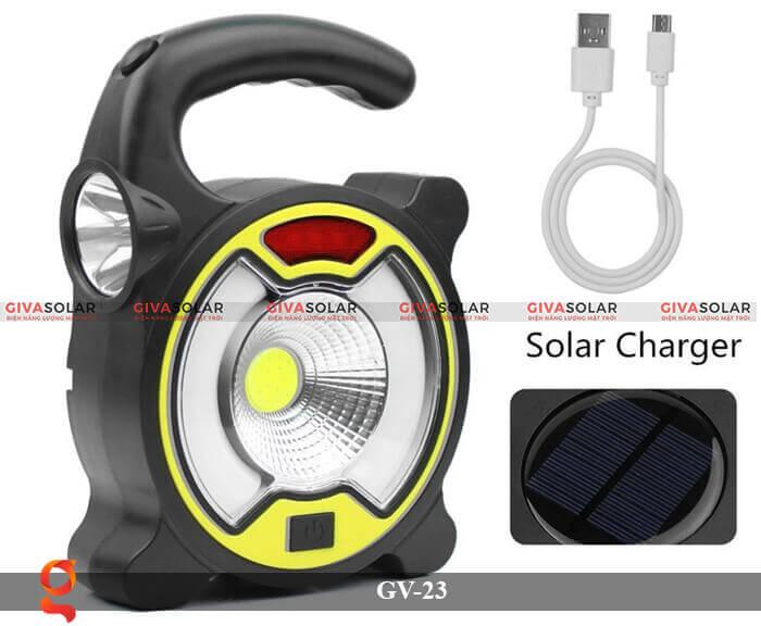 Đèn Led cầm tay năng lượng mặt trời GV-23 9