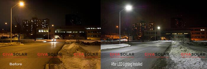 Đèn led năng lượng mặt trời có cảm biến chuyển động 9