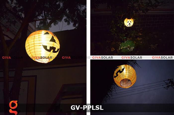 Đèn lồng vải bí ngô trang trí Halloween năng lượng mặt trời GV-PPLSL 2