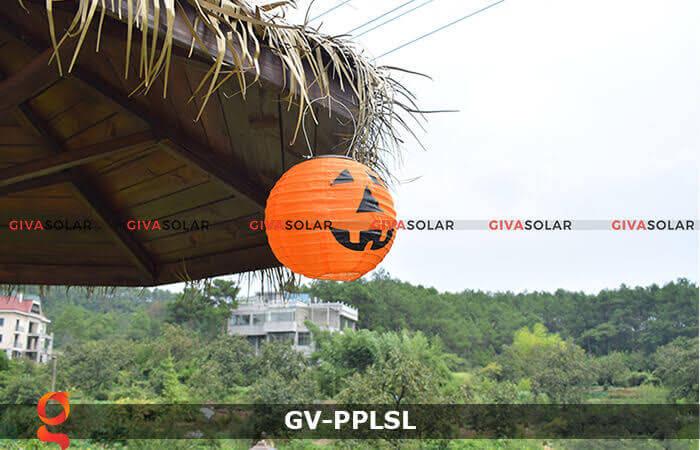 Đèn lồng vải bí ngô trang trí Halloween năng lượng mặt trời GV-PPLSL 3