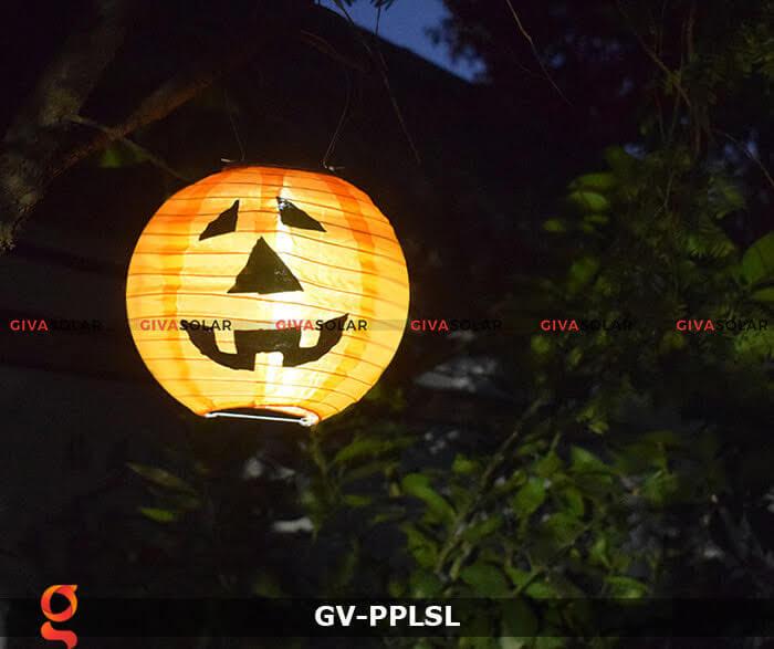 Đèn lồng vải bí ngô trang trí Halloween năng lượng mặt trời GV-PPLSL 4