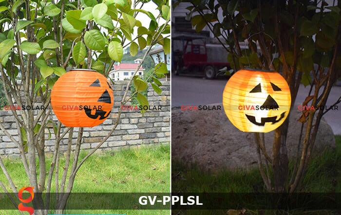 Đèn lồng vải bí ngô trang trí Halloween năng lượng mặt trời GV-PPLSL 5