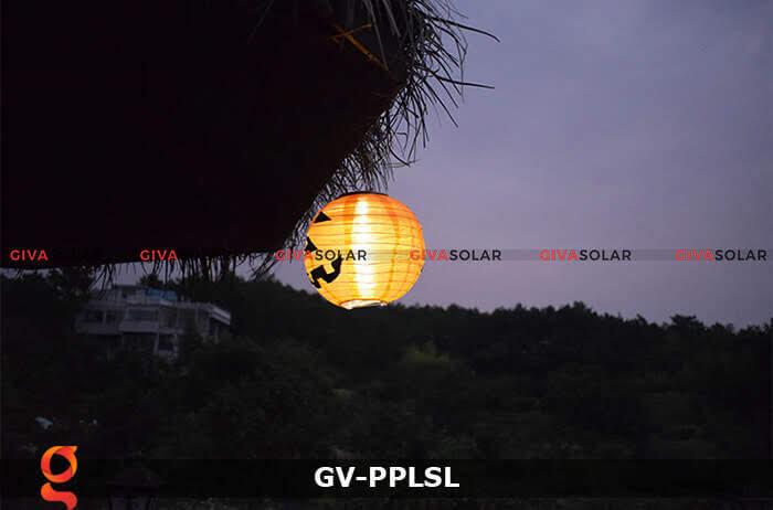 Đèn lồng vải bí ngô trang trí Halloween năng lượng mặt trời GV-PPLSL 7