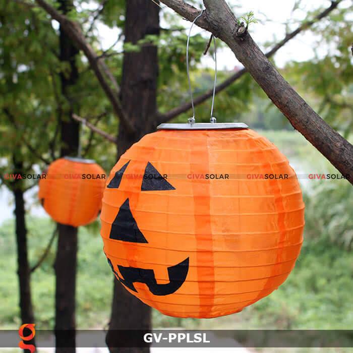 Đèn lồng vải bí ngô trang trí Halloween năng lượng mặt trời GV-PPLSL 8