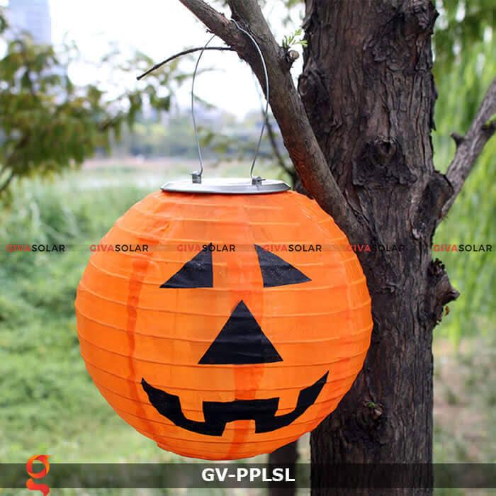 Đèn lồng vải bí ngô trang trí Halloween năng lượng mặt trời GV-PPLSL 9