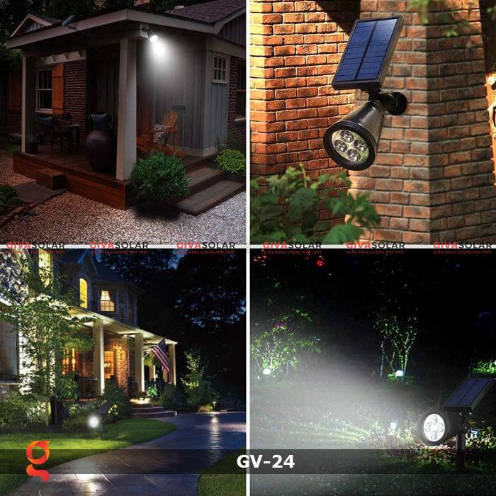 Đèn cắm thảm cỏ năng lượng mặt trời GV-24 1