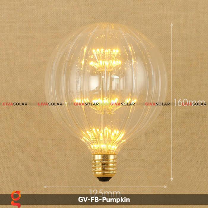 Đèn Led bulb bí ngô trang trí tiệc, sự kiện GV-FB-Pumpkin 2