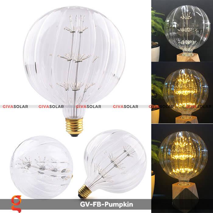 Đèn Led bulb bí ngô trang trí tiệc, sự kiện GV-FB-Pumpkin 3