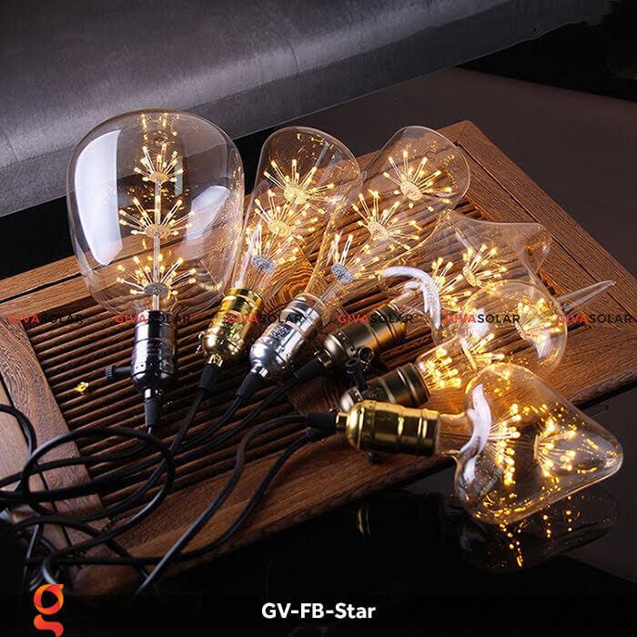 Led bulb hình ngôi sao trang trí tiệc, sự kiện GV-FB-Star 1