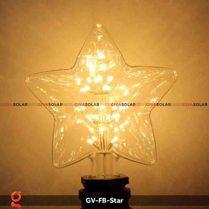Led bulb hình ngôi sao trang trí tiệc, sự kiện GV-FB-Star 6