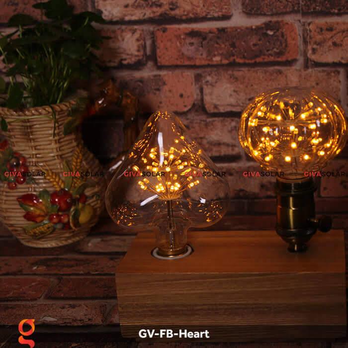 Led bulb trái tim trang trí tiệc, sự kiện GV-FB-Heart 1