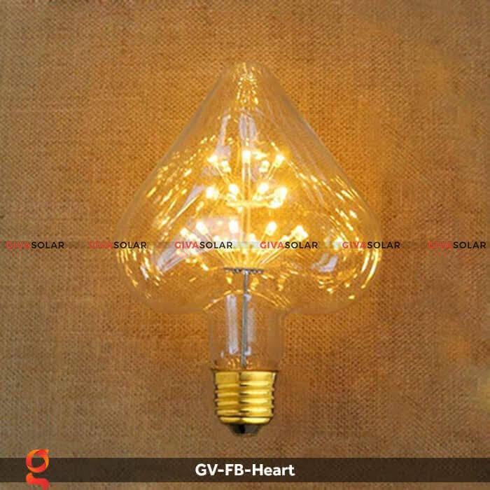 Led bulb trái tim trang trí tiệc, sự kiện GV-FB-Heart 2
