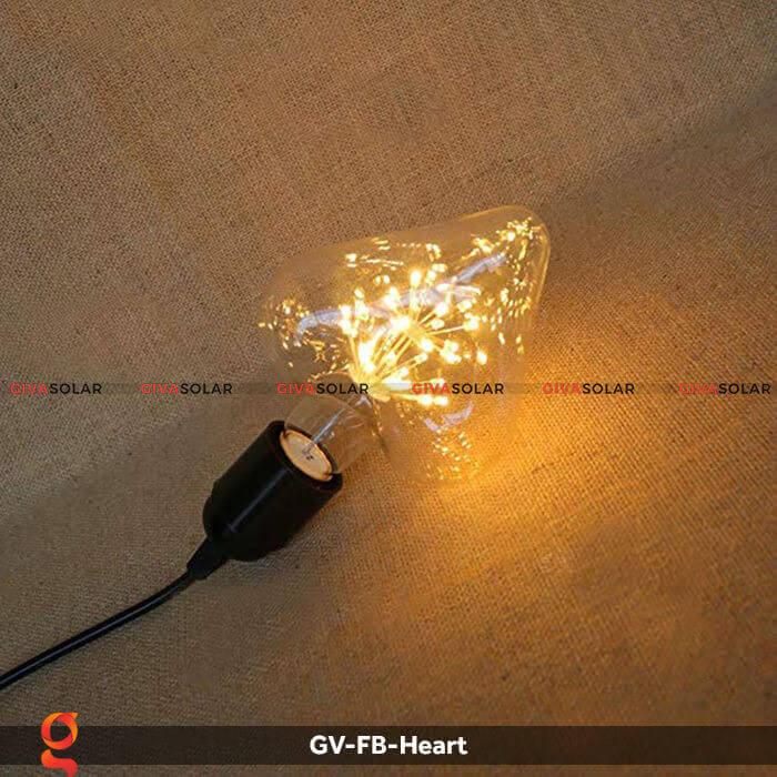 Led bulb trái tim trang trí tiệc, sự kiện GV-FB-Heart 4