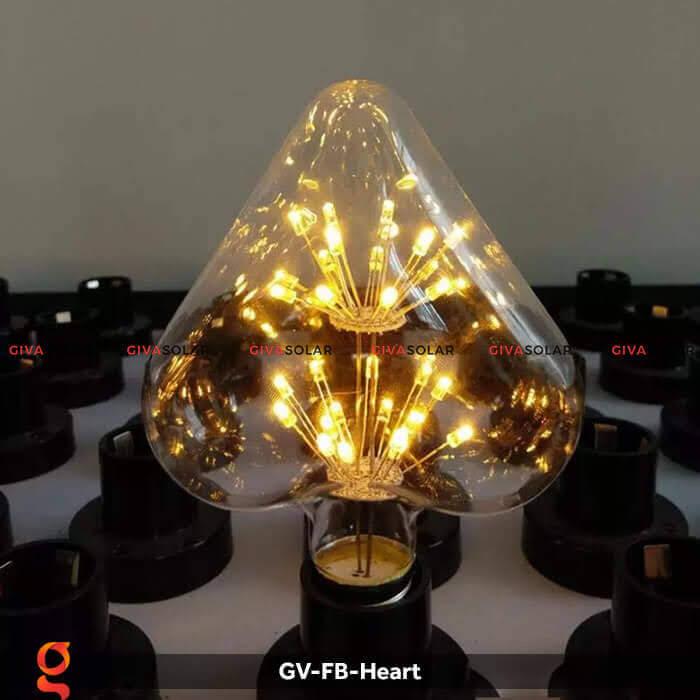 Led bulb trái tim trang trí tiệc, sự kiện GV-FB-Heart 5