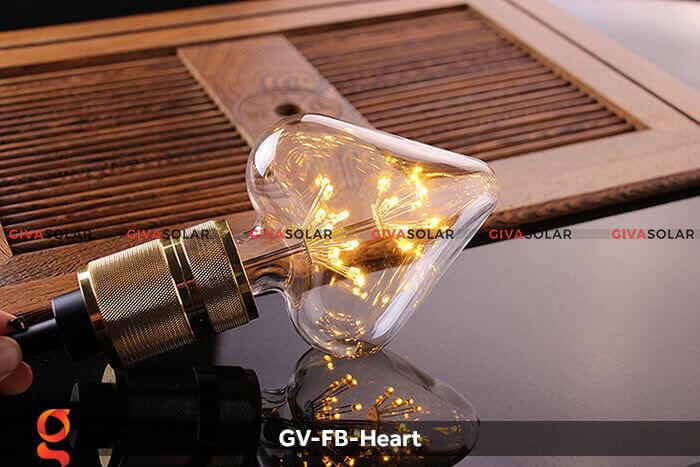 Led bulb trái tim trang trí tiệc, sự kiện GV-FB-Heart 6