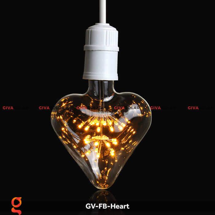 Led bulb trái tim trang trí tiệc, sự kiện GV-FB-Heart 7
