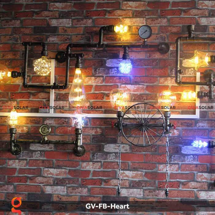 Led bulb trái tim trang trí tiệc, sự kiện GV-FB-Heart 8