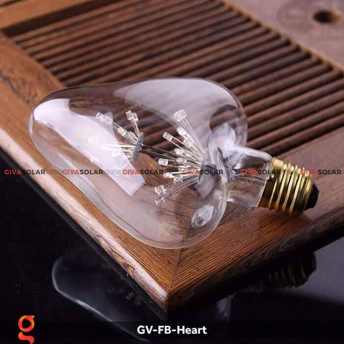 Led bulb trái tim trang trí tiệc, sự kiện GV-FB-Heart 9