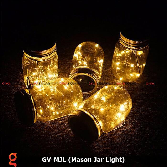 Lọ thủy tinh trang trí năng lượng mặt trời GV-MJL 10