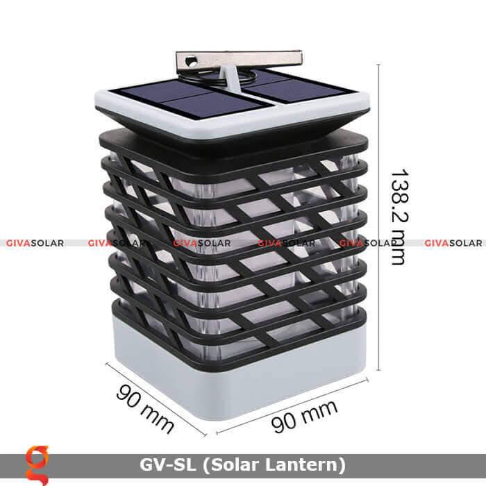 Lồng đèn trang trí năng lượng mặt trời GV-SL 15