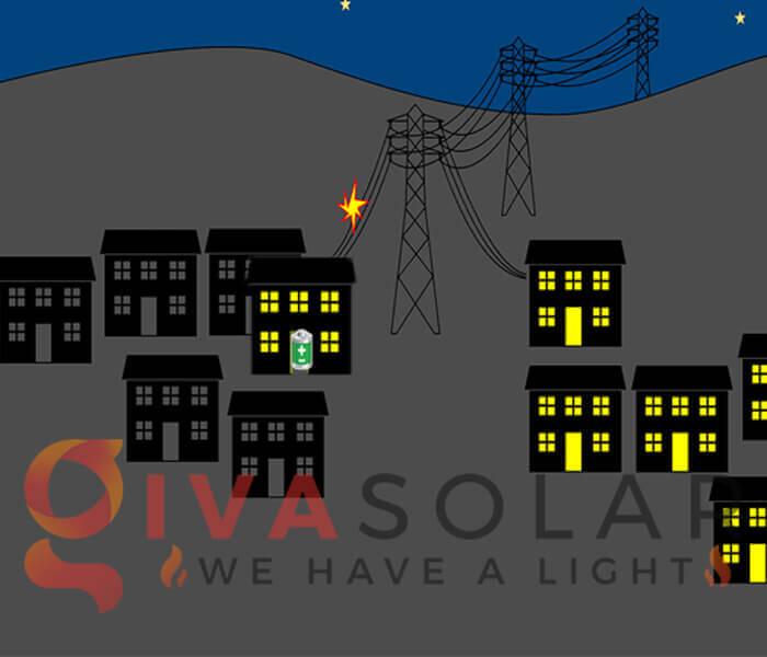 Sẽ cúp điện khi lưới điện ngừng hoạt động trừ khi sử dụng pin
