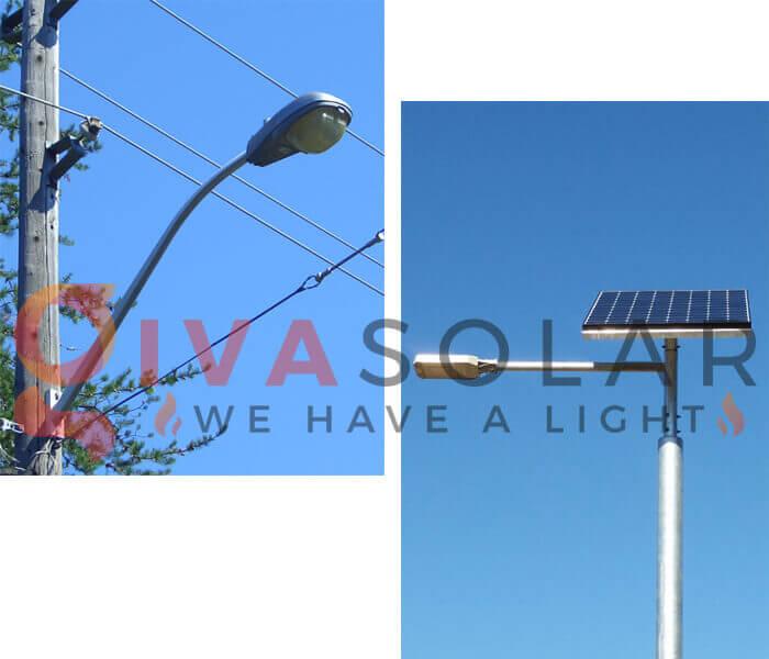 So sánh đèn đường mặt trời và đèn đường thông thường 1