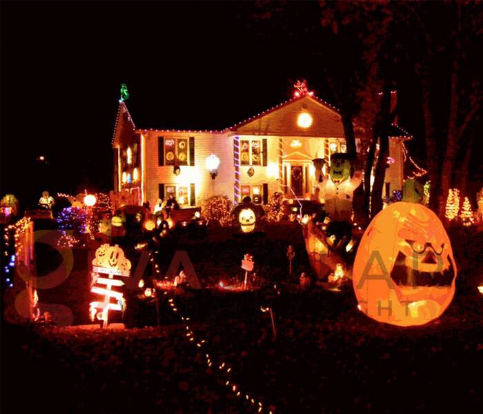 Ý tưởng sử dụng đèn trang trí Halloween 1