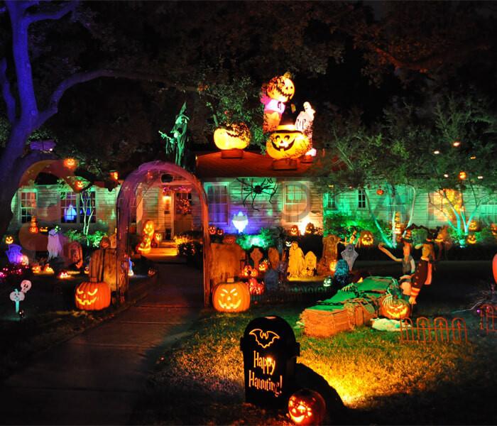 Ý tưởng sử dụng đèn trang trí Halloween 3