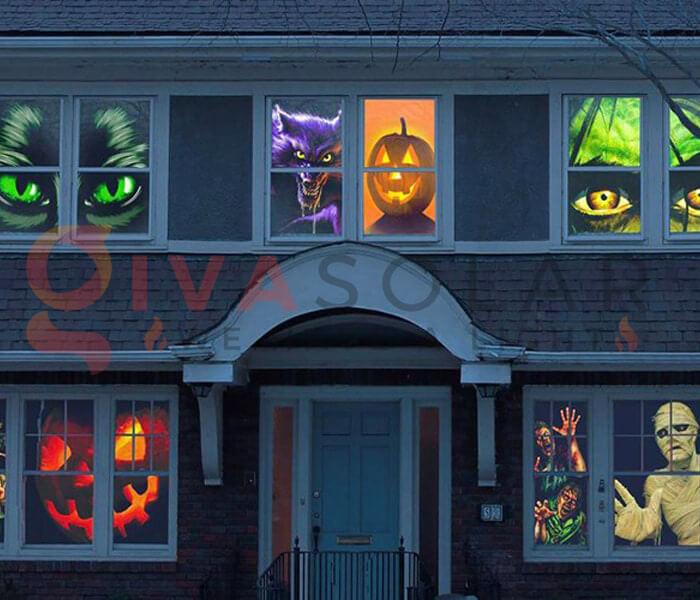 Ý tưởng sử dụng đèn trang trí Halloween 4