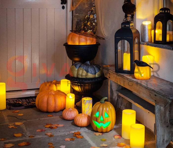 Ý tưởng sử dụng đèn trang trí Halloween 7