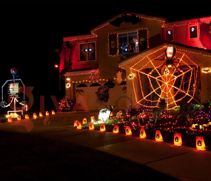 Ý tưởng sử dụng đèn trang trí Halloween