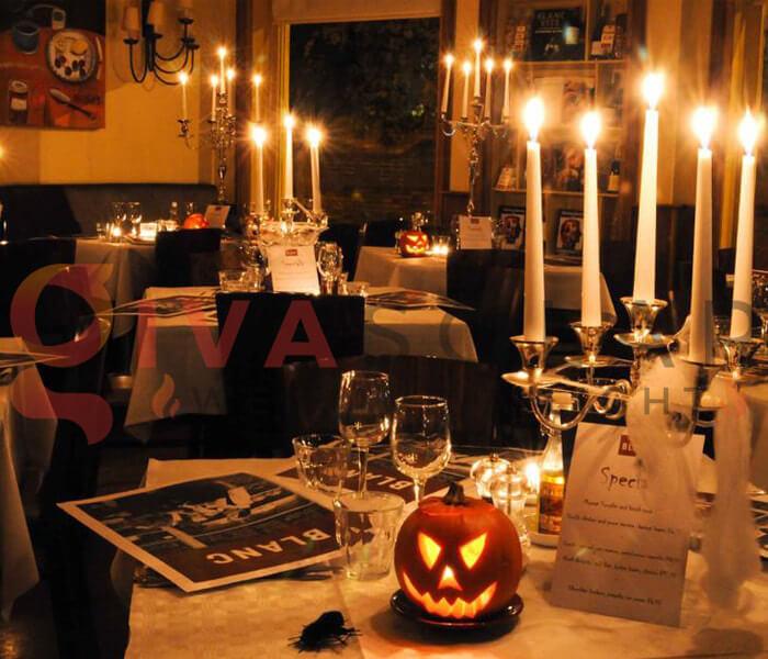 Ý tưởng trang trí Halloween cho nhà hàng, quán ăn