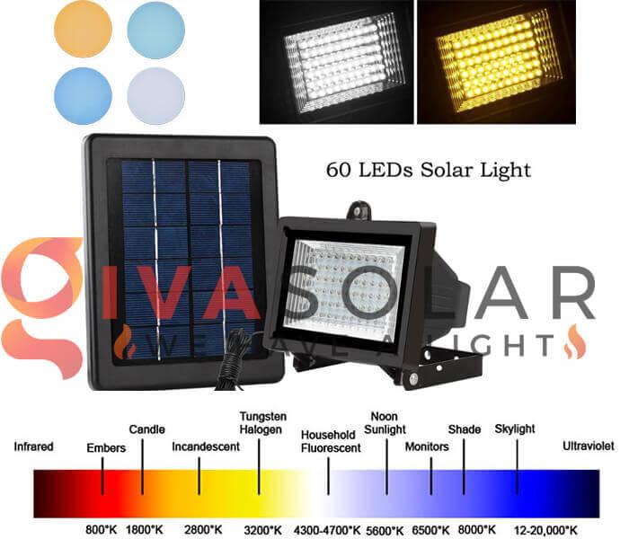 Nhiệt độ màu của đèn pha năng lượng mặt trời