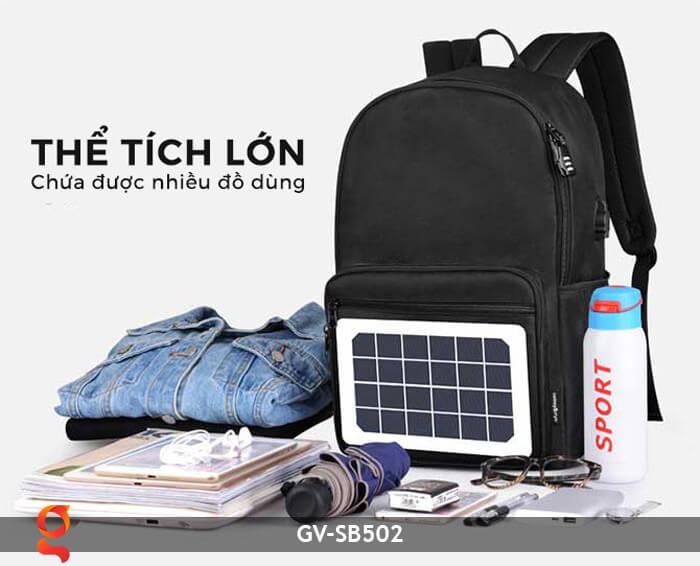 Balo sử dụng năng lượng mặt trời GV-SB502 12