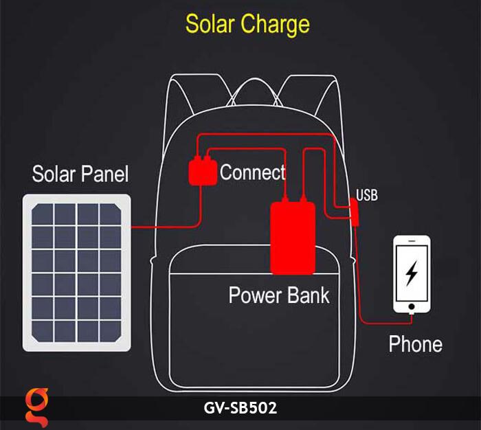Balo sử dụng năng lượng mặt trời GV-SB502 14