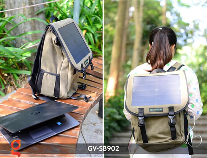 Balo sạc năng lượng mặt trời GV-SB902 10