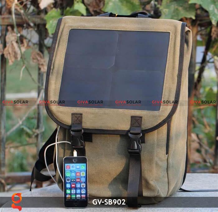 Balo sạc năng lượng mặt trời GV-SB902 8