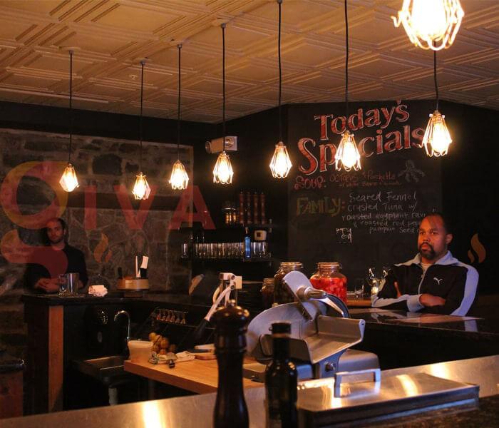 Cách sử dụng đèn trang trí quán cafe 3