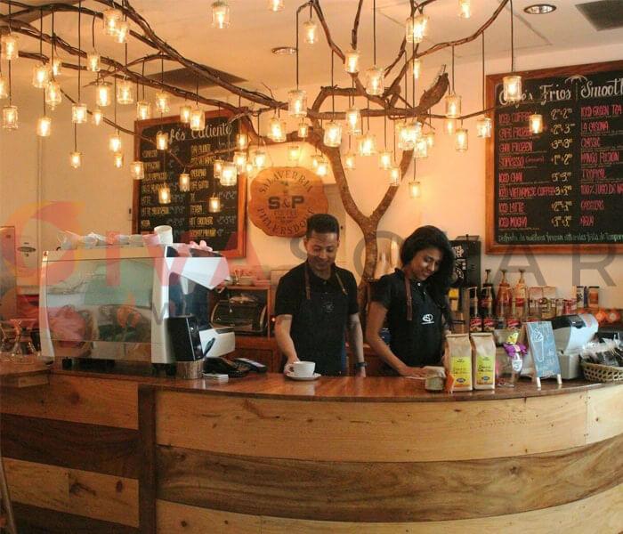 Cách sử dụng đèn trang trí quán cafe 4