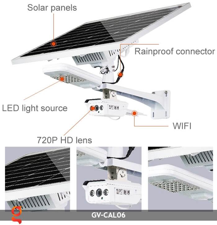 Bộ camera năng lượng mặt trời và đèn đường GV-CAM06 5
