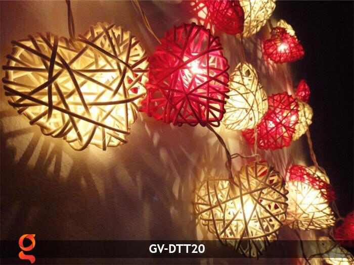 Dây đèn mây trang trí hình trái tim GV-DTT20 6