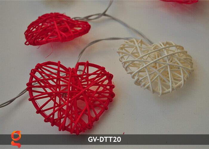 Dây đèn mây trang trí hình trái tim GV-DTT20 7